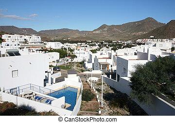 Mediterranean architecture - Beautiful Mediterranean seaside...