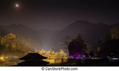 ChengYang village night timelapse - It is known for its Folk...