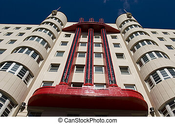 The Beresford Building, an art deco construction formerly...