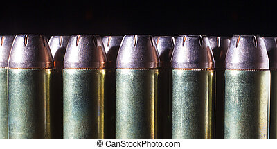 Hangun ammo - Line of forty four magnum hollowpoint...