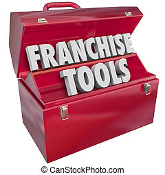 Franchise Tools 3d Words Toolbox Start New Licensed Business