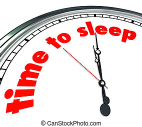 Time to Sleep Clock Bedtime Dreaming Rest Relaxation Nap -...