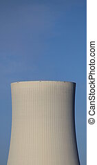 Cooling Tower - Cooling tower and clear blue sky