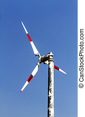 The turbine natural energy with wind at Bang Pu Seaside of...