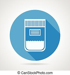 Flat round icon for urine sample - Flat round blue vector...
