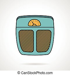 Flat vector icon for floor scales - Colored flat style...