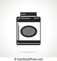 Black vector icon for gainer - Black contour vector icon for...