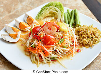 Papaya Salad ,Som Tum Thai Food