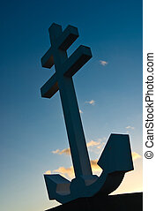 Cross of Lorraine monument to the Free French forces who...