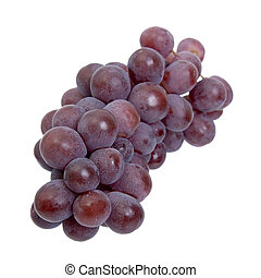 Red grapes on a white background