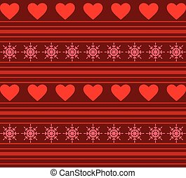 Hearts And Stripes Background