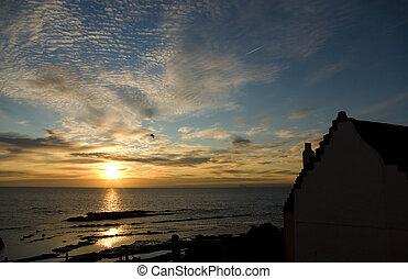 Sunrise over Pittenweem, East Neuk, Fife, Scotland, Uk,...