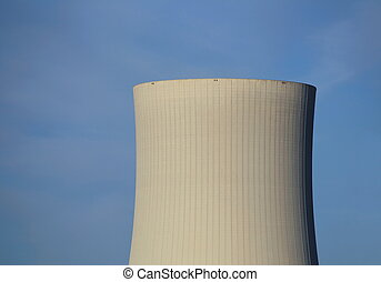 Cooling Tower - Cooling tower and clear blue sky.