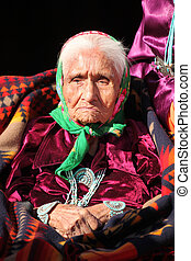 Wise Navajo Elder Wearing Traditional Jewelry