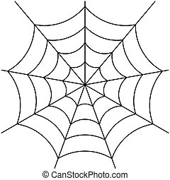 spider web vector - image of spider web isolated on white...