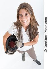 Girl in riding gear - Young woman dressed in horse riding...