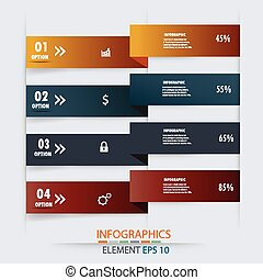infographics design element label - Modern business options...