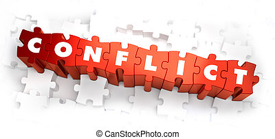 Conflict - Text on Red Puzzles. - Conflict - Text on Red...