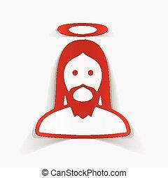 realistyczny, projektować, element:, Jezus,
