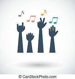 Concert. Single flat icon on white background. Vector...