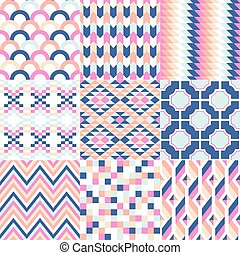 seamless vivid geometric pattern