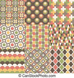 seamless retro geometric pattern design