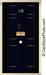 Ten Downing Street - The front door od number ten downing...