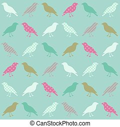 seamless birds wallpaper pattern