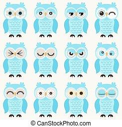 seamless owls pattern