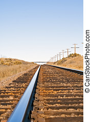 Feeling of distance portrayed by railroad track