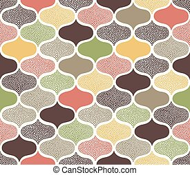 seamless dots ornament pattern