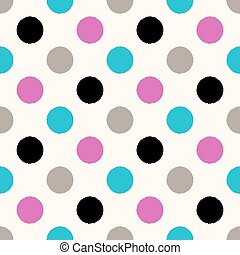 seamless circles dots pattern