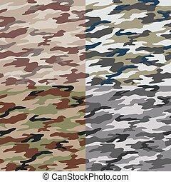 seamless, camuflagem, Padrão,