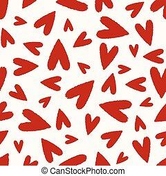 seamless heart scribble pattern