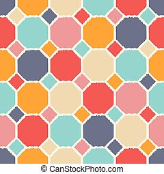 seamless geometric polygon pattern tiles