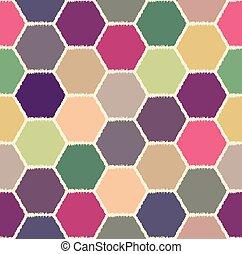 seamless hexagonal pattern