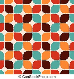 seamless retro geometric pattern abstract, aqua,...