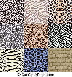 repeated animal skin pattern - repeated wildlife animal skin...