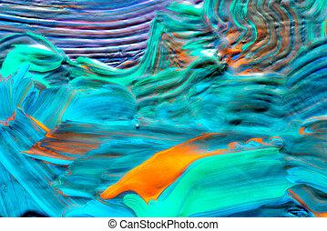 abstratos, arte, experiência., mão-pintado,...
