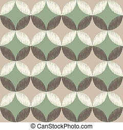 seamless circle diamond pattern