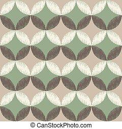 seamless circle diamond pattern