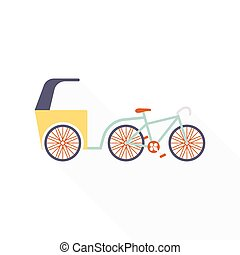 Trishaw - Vector concept of a trishaw - traditional asian...