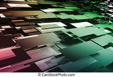 Digital Mosaic - Web Creative Artistic Fractal as Mosaic...
