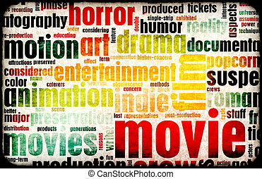 Movie Poster of Film Genres Vintage Background