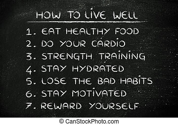 how to be fit: set of rules for a good lifestyle