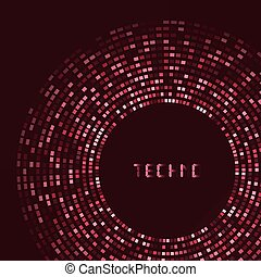 Red technology round for your logo template. Can be used for...