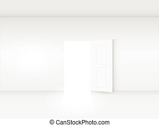 Door in Room Illustration