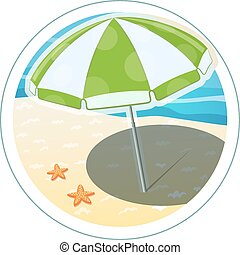 Beach umbrella Eps10 vector illustration Isolated on white...