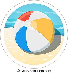 Beach ball Eps10 vector illustration Isolated on white...