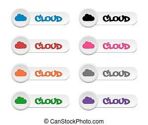 Cloud buttons